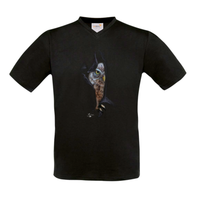 Motiv: T-Shirt V-Neck FAIR WEAR - Poldinator dunkel