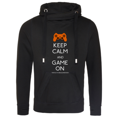 Motiv: Cross Neck Hoodie - Keep Calm Game On