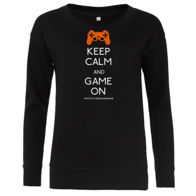 Motiv: Girlie Crew Sweatshirt - Keep Calm Game On