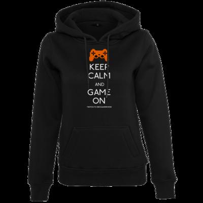Motiv: Womens Heavy Hoody - Keep Calm Game On