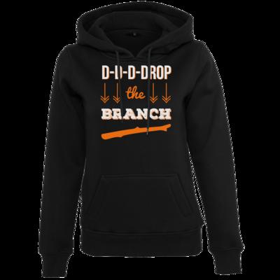 Motiv: Womens Heavy Hoody - Drop the Branch
