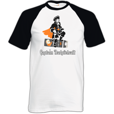Motiv: TShirt Baseball - Captain Nadpfelsaft