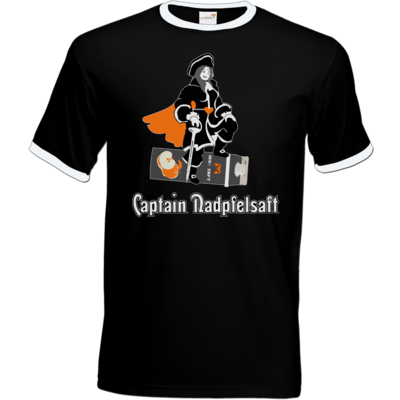 Motiv: T-Shirt Ringer - Captain Nadpfelsaft