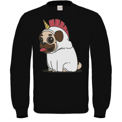 Motiv: Sweatshirt FAIR WEAR - Einhorn Mops