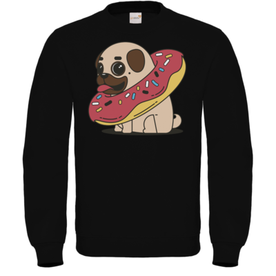 Motiv: Sweatshirt FAIR WEAR - Mops mit Donut