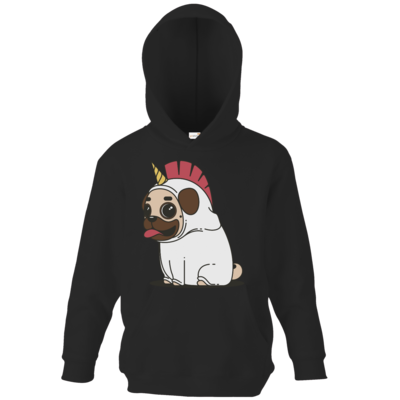 Motiv: Kids Hooded Sweat - Einhorn Mops