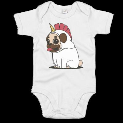 Motiv: Baby Body Organic - Einhorn Mops