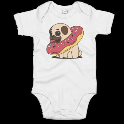 Motiv: Baby Body Organic - Mops mit Donut