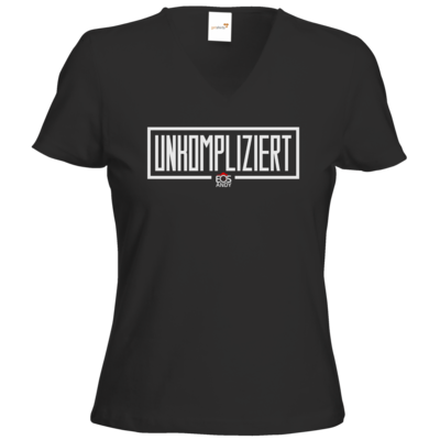 Motiv: T-Shirts Damen V-Neck FAIR WEAR - unkompliziert eosandy shirt