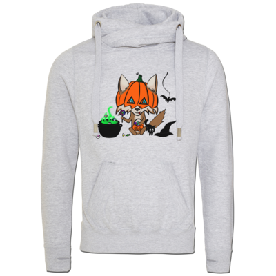 Motiv: Cross Neck Hoodie - halloweenwosel