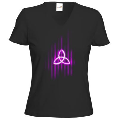 Motiv: T-Shirts Damen V-Neck FAIR WEAR - Triquetra