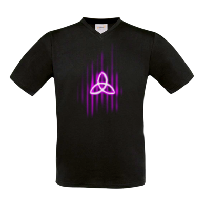 Motiv: T-Shirt V-Neck FAIR WEAR - Triquetra