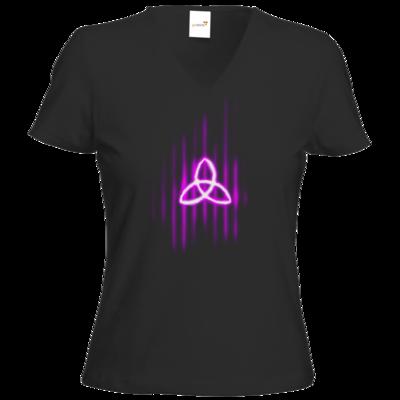 Motiv: T-Shirt Damen V-Neck Classic - Triquetra