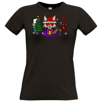 Motiv: T-Shirt Damen Premium FAIR WEAR - weihnachtsmann