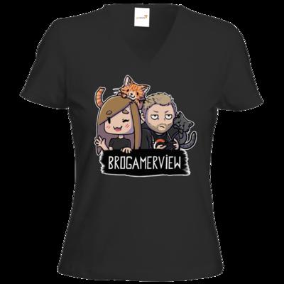 Motiv: T-Shirts Damen V-Neck FAIR WEAR - BroGamerView Avatare