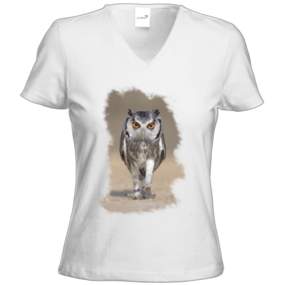 Motiv: T-Shirts Damen V-Neck FAIR WEAR - und weg ...