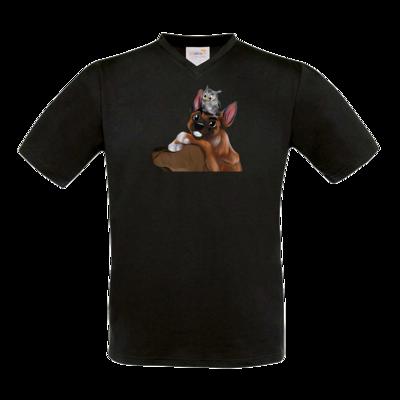Motiv: T-Shirt V-Neck FAIR WEAR - friends