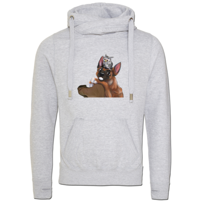 Motiv: Cross Neck Hoodie - friends