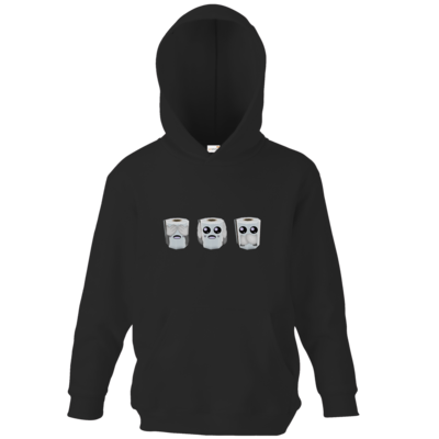 Motiv: Kids Hooded Sweat - Die Drei Klopapiere