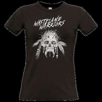 Motiv: T-Shirt Damen Premium FAIR WEAR - Primal Skull