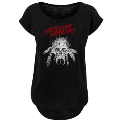 Motiv: Ladies Long Slub Tee - Primal Skull v2