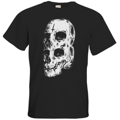 Motiv: T-Shirt Premium FAIR WEAR - Twin Skull