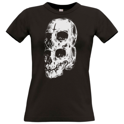 Motiv: T-Shirt Damen Premium FAIR WEAR - Twin Skull