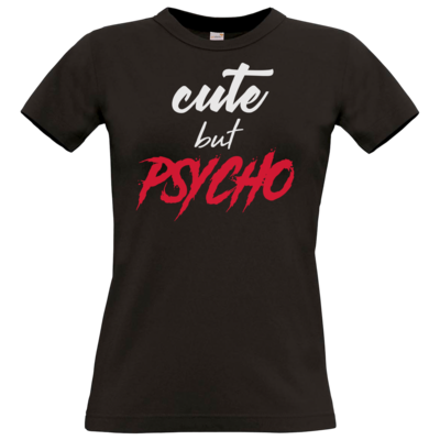 Motiv: T-Shirt Damen Premium FAIR WEAR - Cute but Psycho