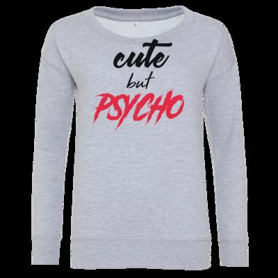 Motiv: Girlie Crew Sweatshirt - Cute but Psycho
