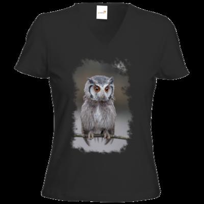 Motiv: T-Shirts Damen V-Neck FAIR WEAR - Waaas ?