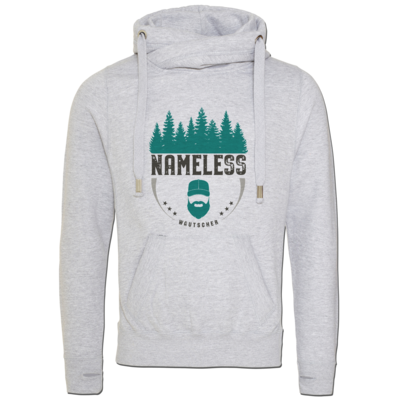 Motiv: Cross Neck Hoodie - Nameless Retro