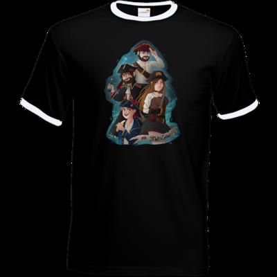 Motiv: T-Shirt Ringer - Gronkh - HWS Crew