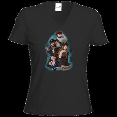Motiv: T-Shirt Damen V-Neck Classic - Gronkh - HWS Crew