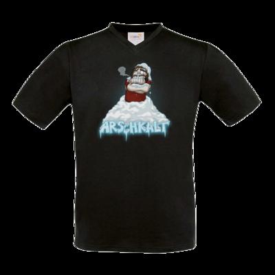 Motiv: T-Shirt V-Neck FAIR WEAR - Arschkalt