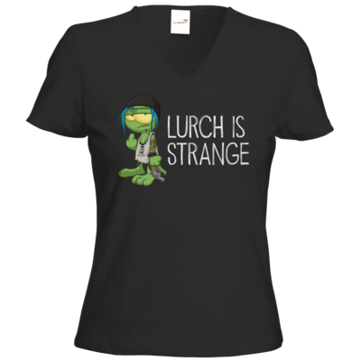 Motiv: T-Shirts Damen V-Neck FAIR WEAR - Lurch is Strange Chloe
