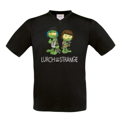 Motiv: T-Shirt V-Neck FAIR WEAR - Lurch is Strange Max & Chloe
