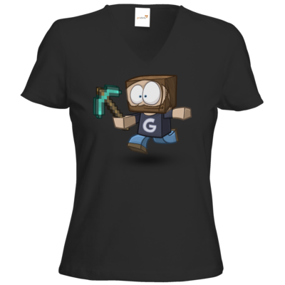 Motiv: T-Shirts Damen V-Neck FAIR WEAR - Gronkhcraft