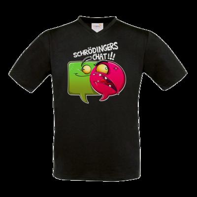Motiv: T-Shirt V-Neck FAIR WEAR - Schroedingers Chat