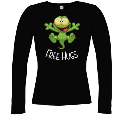 Motiv: Longsleeve Damen Organic - FreeHugs