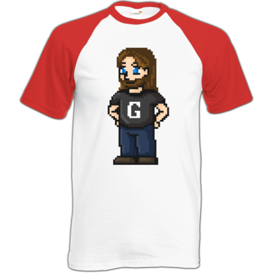 Motiv: Baseball-T FAIR WEAR - Pixelgronkh