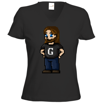 Motiv: T-Shirts Damen V-Neck FAIR WEAR - Pixelgronkh