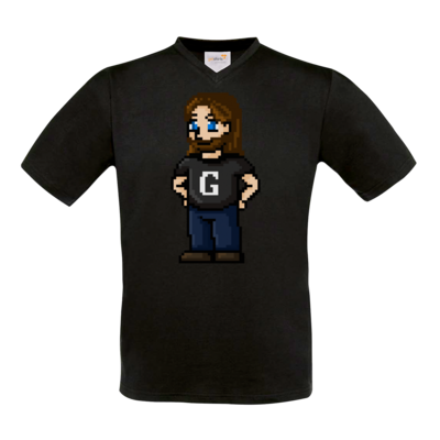 Motiv: T-Shirt V-Neck FAIR WEAR - Pixelgronkh