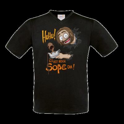 Motiv: T-Shirt V-Neck FAIR WEAR - Es ist noch Sosse da