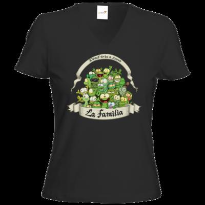 Motiv: T-Shirts Damen V-Neck FAIR WEAR - LaFamilia