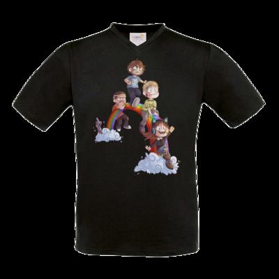 Motiv: T-Shirt V-Neck FAIR WEAR - Dead by Daylight - Regenbogen