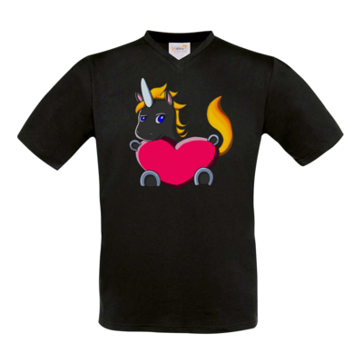 Motiv: T-Shirt V-Neck FAIR WEAR - LSDUnicorn Liebe