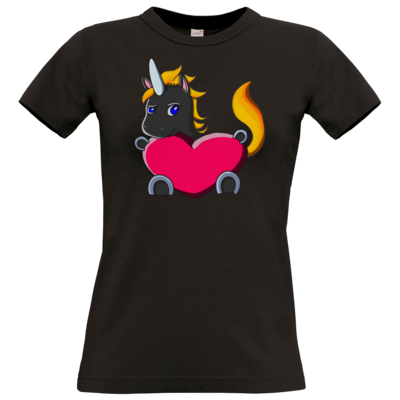 Motiv: T-Shirt Damen Premium FAIR WEAR - LSDUnicorn Liebe