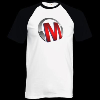Motiv: TShirt Baseball - Macho - Logo - Rot