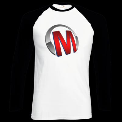 Motiv: Longsleeve Baseball T - Macho - Logo - Rot