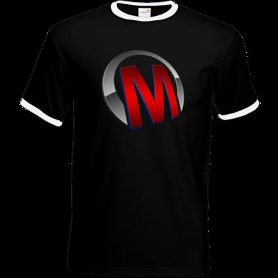 Motiv: T-Shirt Ringer - Macho - Logo - Rot